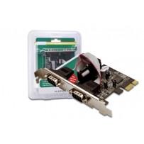 Digitus Adaptér PCI Express x1 2xseriový port, +low profile čipová sada: ASIX99100