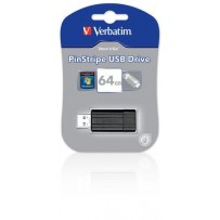 VERBATIM Store 'n' Go PinStripe 64GB USB 2.0 černá