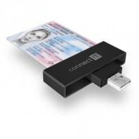 CONNECT IT USB čtečka eObčanek a čipových karet, ČERNÁ