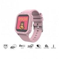 """iGET KID F10 Pink - Dětské hodinky s hrami/1,4"""" displej/240x240px/128 kb RAM + 128 MB ROM/160 mAh/BT 5.0/IP68/růžová"""