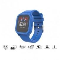 "iGET KID F10 Blue - Dětské hodinky s hrami/1,4"" displej/240x240px/128 kb RAM + 128 MB ROM/160 mAh/BT 5.0/IP68/modrá"