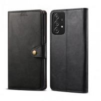 Lenuo Leather flipové pouzdro pro Samsung Galaxy A52 4G/5G, černá