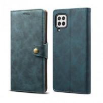 Lenuo Leather flipové pouzdro pro Samsung Galaxy A22, modrá