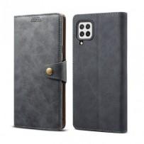 Lenuo Leather flipové pouzdro pro Samsung Galaxy A22, šedá