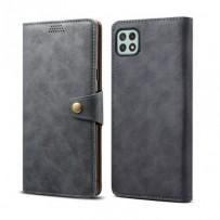 Lenuo Leather flipové pouzdro pro Samsung Galaxy A22 5G, šedá