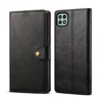 Lenuo Leather flipové pouzdro pro Samsung Galaxy A22 5G, černá