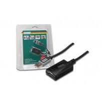 Digitus USB 2.0 aktivní prodlužovací kabel 5m , Blister
