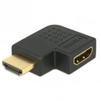 Delock adaptér HDMI A samec/samice, pravoúhlý, vlevo