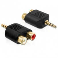 Delock audio adaptér stereo jack 3.5 mm 3 pin samec - 2 x RCA (CINCH) samice