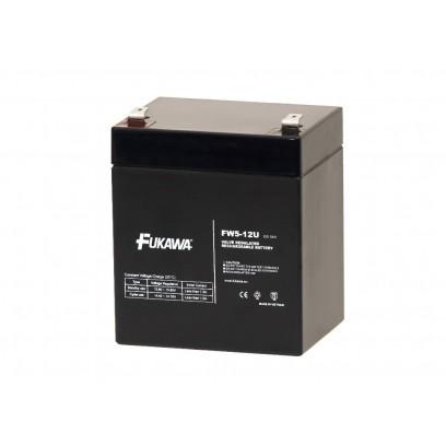 akumulátor FUKAWA FW 5-12 U (12V, 5Ah, faston F2-6,3mm, životnost 5let)