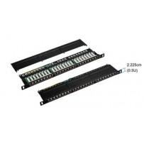 STP 0,5U Patch panel S-line 24 port Cat.5E Black