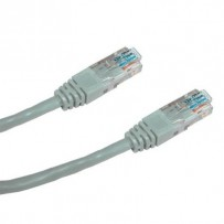 DATACOM Patch cord UTP CAT5E 0,25m šedý