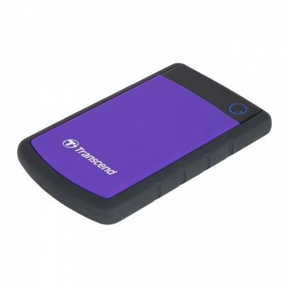 """TRANSCEND 2TB StoreJet 25H3P SLIM, 2.5"""", USB 3.0 (3.1 Gen 1) Externí Anti-Shock disk, tenký profil, černo/fialový"""