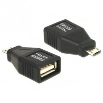 Delock Adapter USB micro-B samec - USB 2.0-A samice OTG, celý v pouzdru