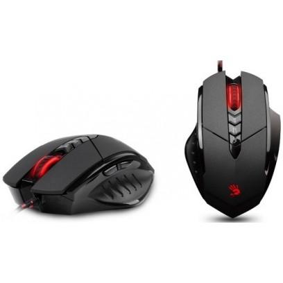 A4tech BLOODY V7 Core2 s kovovýma nožičkama, herní myš, až 3200DPI, HoleLess technologie, 160KB paměť
