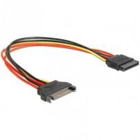 Delock napájecí kabel SATA 15 Pin samec - SATA 15 Pin samice prodlužující 30 cm