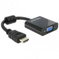Delock Adaptér HDMI-A samec - VGA samice černá