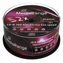 MEDIARANGE CD-R 700MB 52x spindl 50ks Inkjet Printable