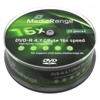 MEDIARANGE DVD-R 4,7GB 16x spindl 10ks