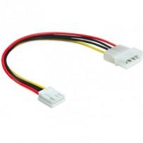 Delock napájecí kabel Molex 4 pin samec - 3.5 floppy samice