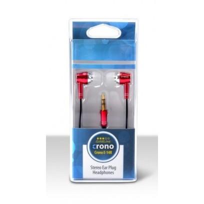 Crono E14R - sluchátka špuntová, jack 3.5mm, červená