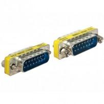 Delock adaptér Sub-D 15 pin samec - samec