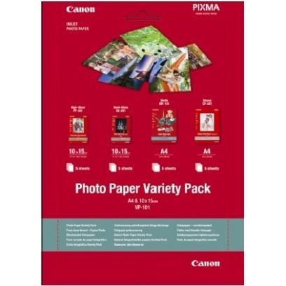 Canon fotopapír Photo Paper Variety Pack A4 & 10x15 (PP SG MP GP) po 5