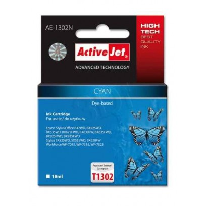 ActiveJet ink cartr. Eps T1302 Cyan 100% NEW - 18 ml AE-1302N