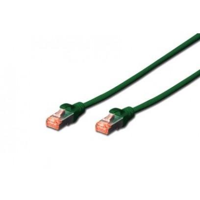 Digitus Patch Cable, S-FTP, CAT 6, AWG 27/7, LSOH, Měď, zelený 10m