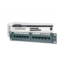 "Digitus CAT 5e patch panel, nestíněný, 12 portů RJ45 8P8C, LSA, 1U, 254 mm (10 ""), bl, 482x44x109 mm"
