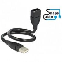 Delock USB 2.0 kabel samec - A samice ShapeCable 0,35 m