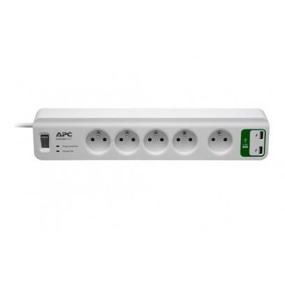 APC Essential SurgeArrest 5 outlets with 5V, 2.4A 2 port USB Charger 230V Czech