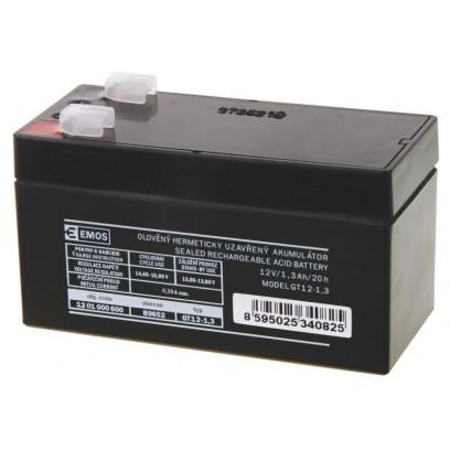Emos baterie SLA 12V / 1.3 Ah, Faston 4.8 (187)