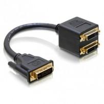 Delock Adaptér DVI-I (Dual Link) samec na 2 x DVI-I (Dual Link) samice
