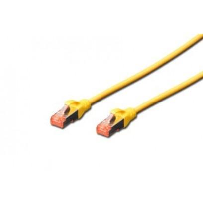 Digitus Patch Cable, S-FTP, CAT 6, AWG 27/7, LSOH, Měď, žlutý 0,5m
