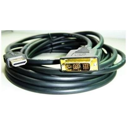 Kabel GEMBIRD HDMI-DVI 3m, M/M stíněný, zlacené kontakty