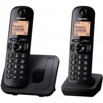 Panasonic KX-TGC212FXB, bezdrát. telefon, 2 sluchátka, černý