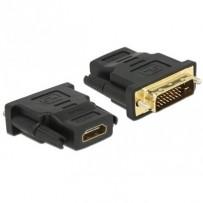 Delock Adaptér DVI 24+1 pin samec - HDMI samice