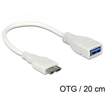 Delock OTG kabel Micro USB 3.0- USB 3.0-A samice