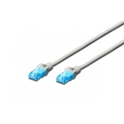 Digitus Ecoline Patch Cable, UTP, CAT 5e, AWG 26/7, šedý 15m, 1ks