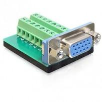 Delock Adaptér VGA samice - svorkovnice 16 pinů