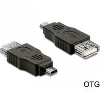 Delock adaptér USB mini samec - USB 2.0-A samice OTG