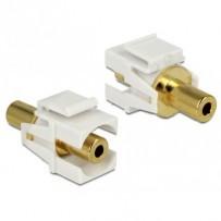 Delock Keystone modul Stereo jack 3.5 mm samice- Stereo jack 3.5 mm samice, pozlacený