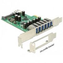 Delock PCI Express Karta - 6 x externí + 1 x interní USB 3.0