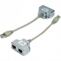 "DATACOM ""Y"" adaptér STP CAT5E PC / TEL+TEL"