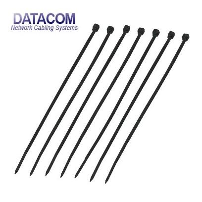 DATACOM Stahovací páska (2.5x165) černá 100ks