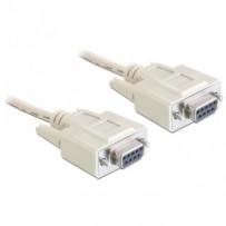 Delock sériový kable Null modem 9 pin samice/samice 5 m