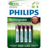 Philips dobíjecí baterie AAA 1000mAh, NiMH - 4ks
