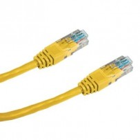 DATACOM Patch cord UTP CAT6 0,25m žlutý