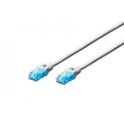 Digitus Ecoline Patch Cable, UTP, CAT 5e, AWG 26/7, bílý 2m, 1ks